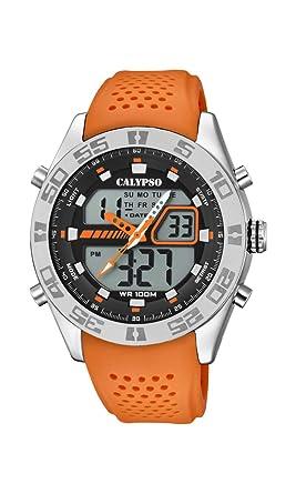 Calypso Watches Reloj Analógico-Digital para Hombre de Cuarzo con Correa en Plástico K5774/1: Amazon.es: Relojes