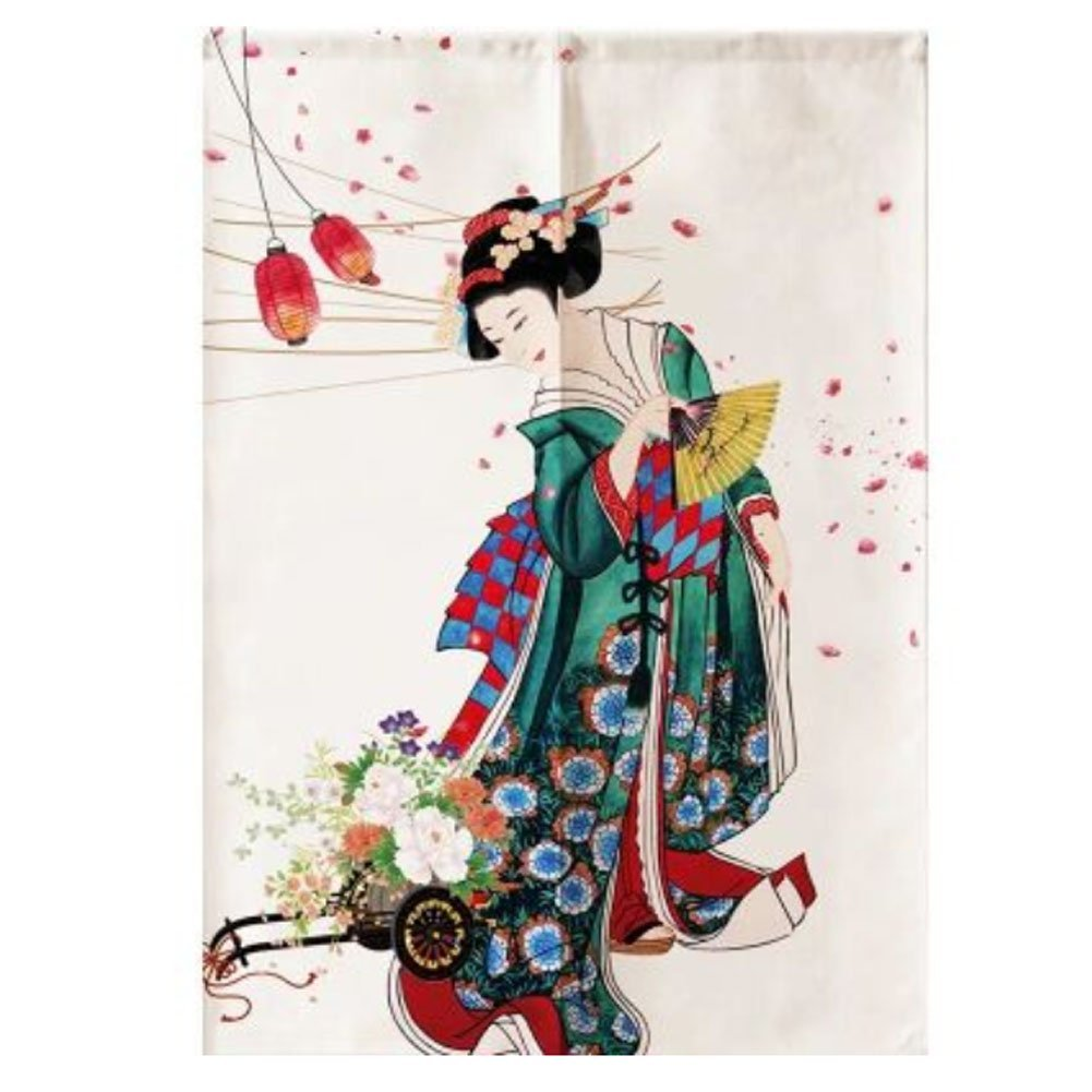 Sushi Bar Decoration Japanese Curtains Door Hallway Hanging Curtains (A13) by LUNA VOW