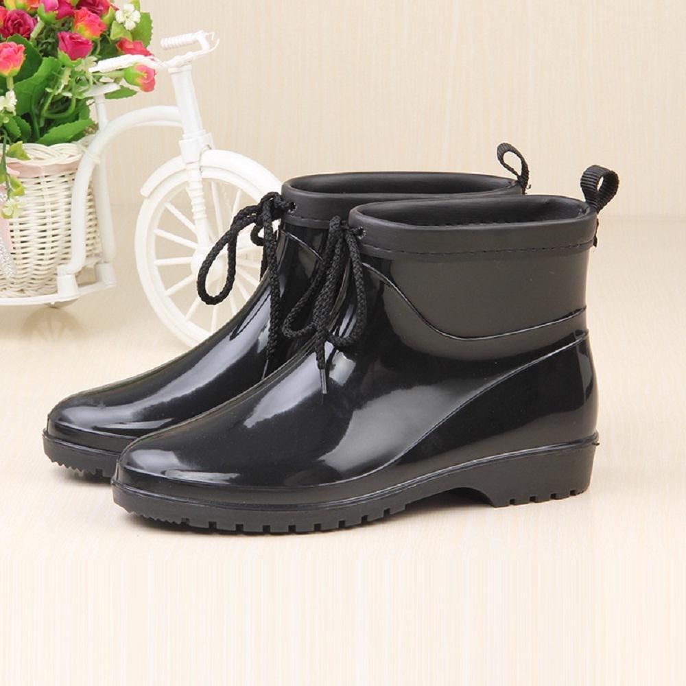 Pioggia Stivali Impermeabile Lady Moda Scarpe di gomma Pioggia Scarpe , black , 23cmBlack