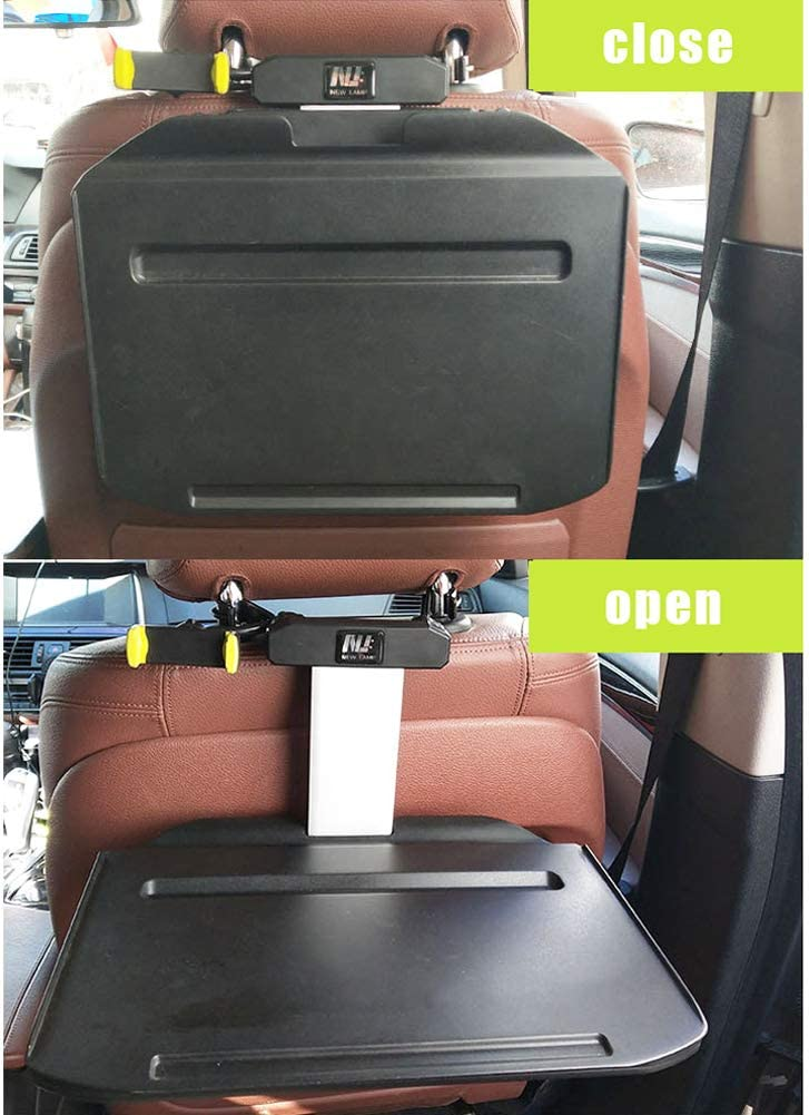 JaneDream Car Laptop Desk Auto Foldable Extendable Hidden Drawers Multi-Functional Tablet with Phone Holder Fits Most Vehicles Steering Wheel /& Backseat for Travel Dining Studying Black
