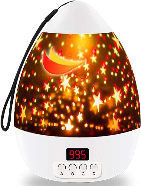 TOP Gift - Lámpara de Noche con Estrella, proyector Giratorio con ...