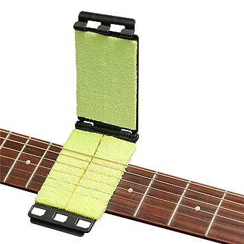 Limpiador de cuerdas de diapasón de guitarra Herramienta de mantenimiento Limpiador de cuerdas de instrumentos Cuidado