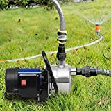 1.6HP Shallow Well Pump Stainless Booster Pump Lawn Water Pump Electric Water Transfer