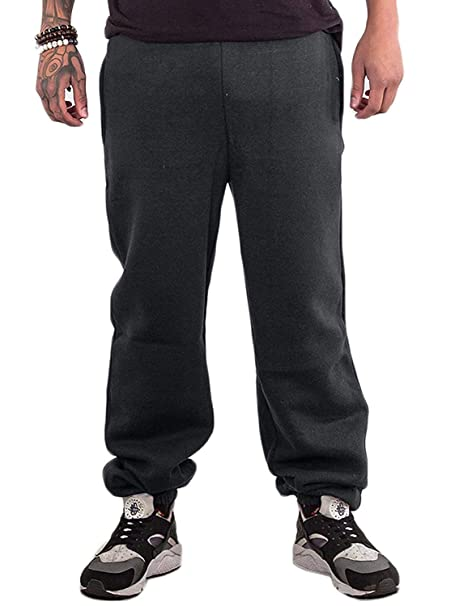 Mens Bottoms Joggers lounge Pants Tracksuit Jog Bottom Fleece ZIP POCKETS S-XXL