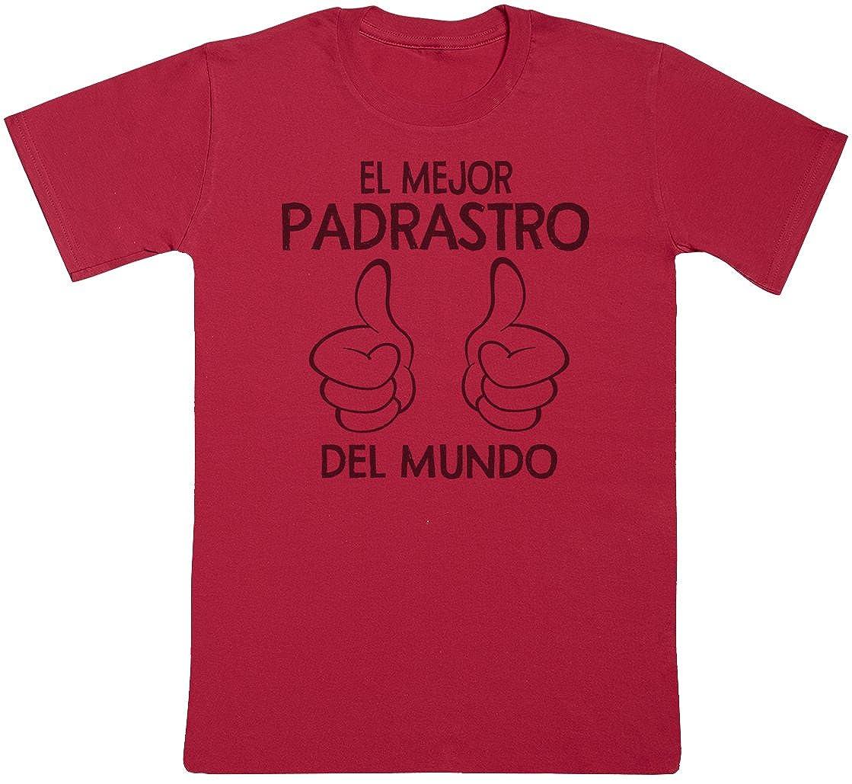 Camiseta de Padre Zarlivia Clothing El Mejor Padrastro del Mundo Thumbs Camiseta de Hombre Regalo para pap/á Regalo para Padres
