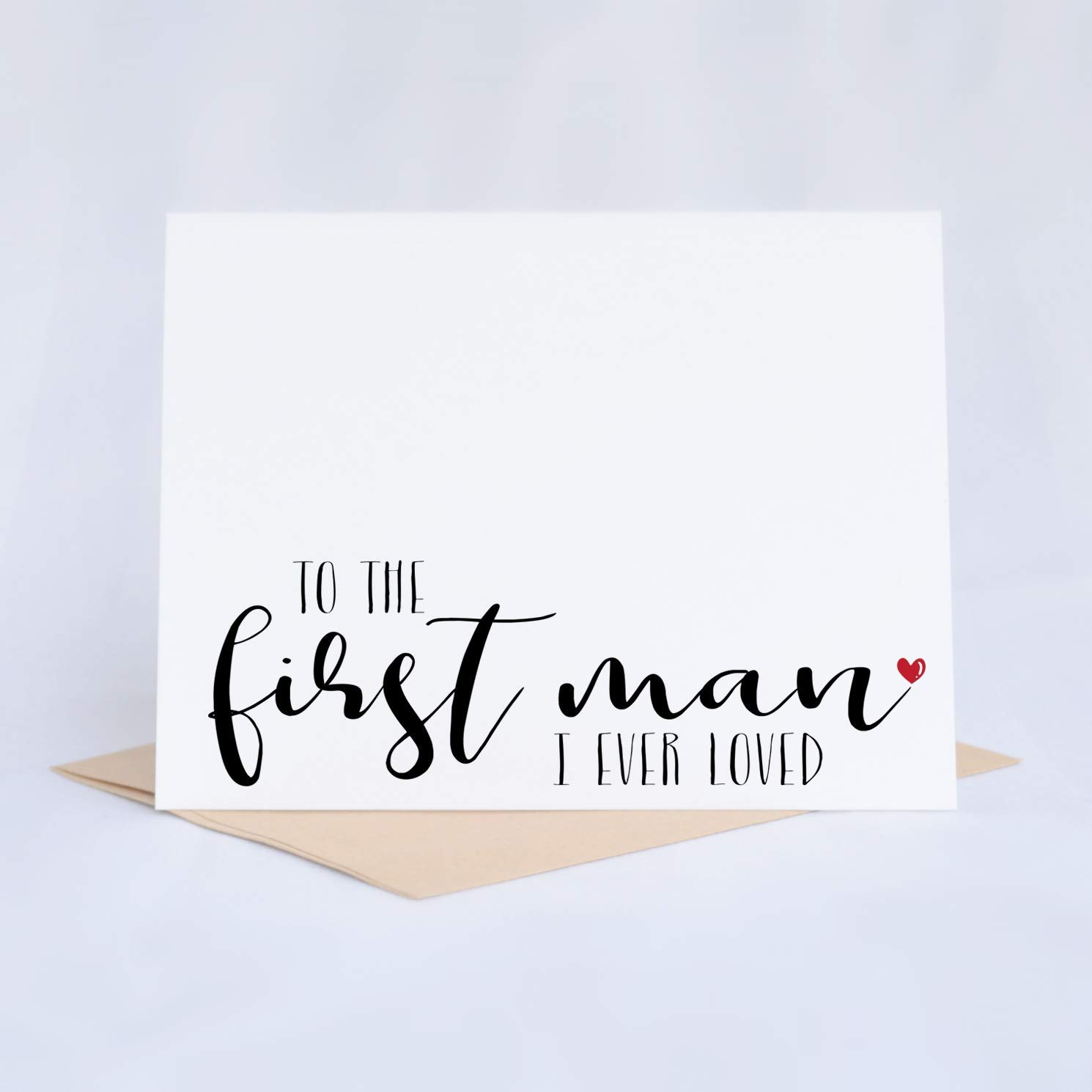 Wedding Day Card For Dad To The First Man I Ever Loved