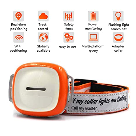 Amazon.com: OMZBM Smart Pet Collar GPS Tracker 2G GSM IPX6 ...