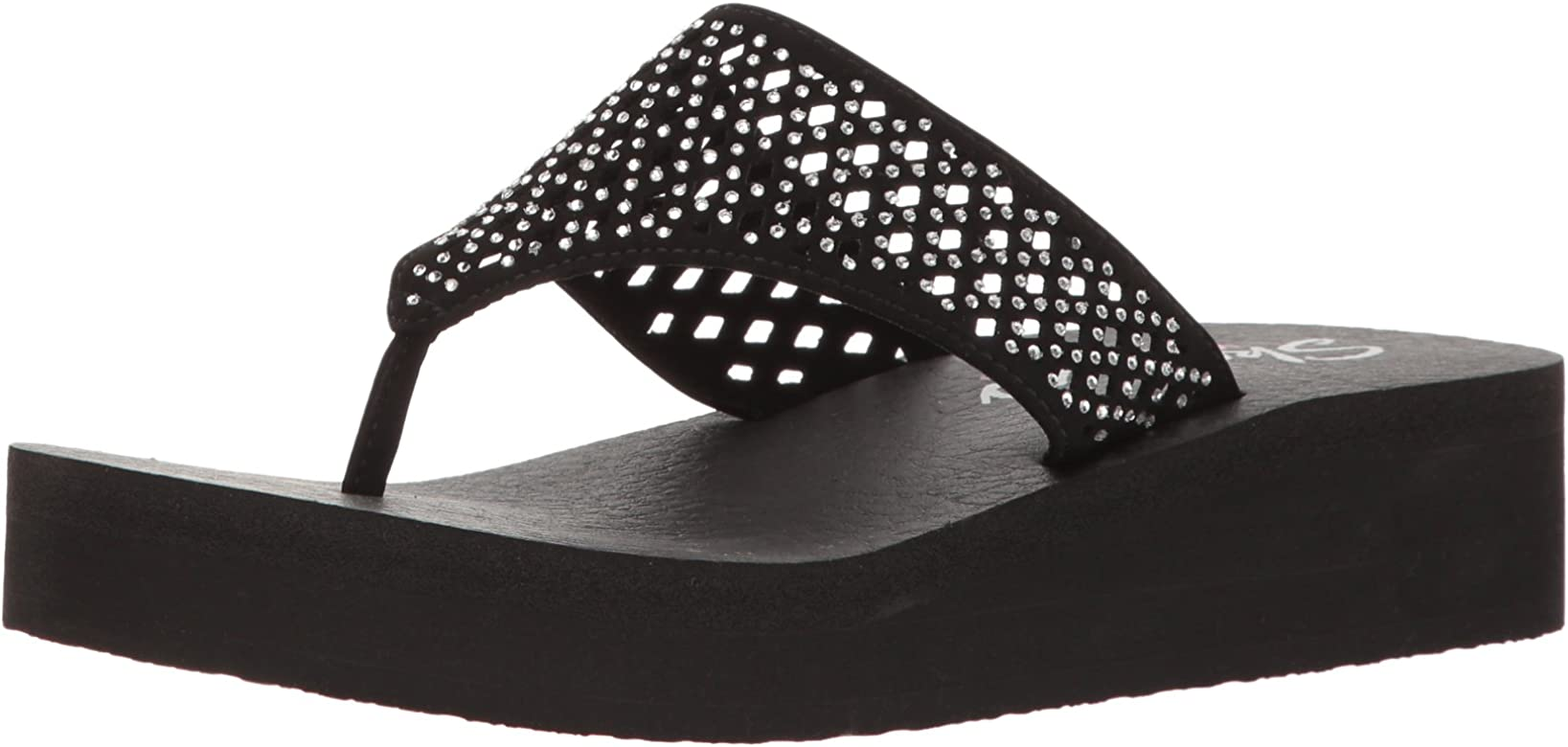 fdd789dbee Amazon.com | Skechers Cali Women's Vinyasa Flow Wedge Sandal, Black ...