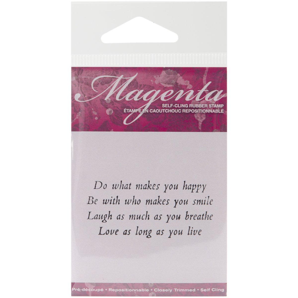 Magenta Cling Stamps 2