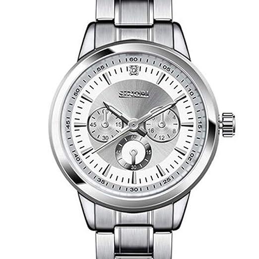 Sinobi 2017 mujeres reloj banda de acero, all-match pulsera Lady de cuarzo Moda Casual Reloj De Pulsera Plata venta reloj mujer: Amazon.es: Relojes