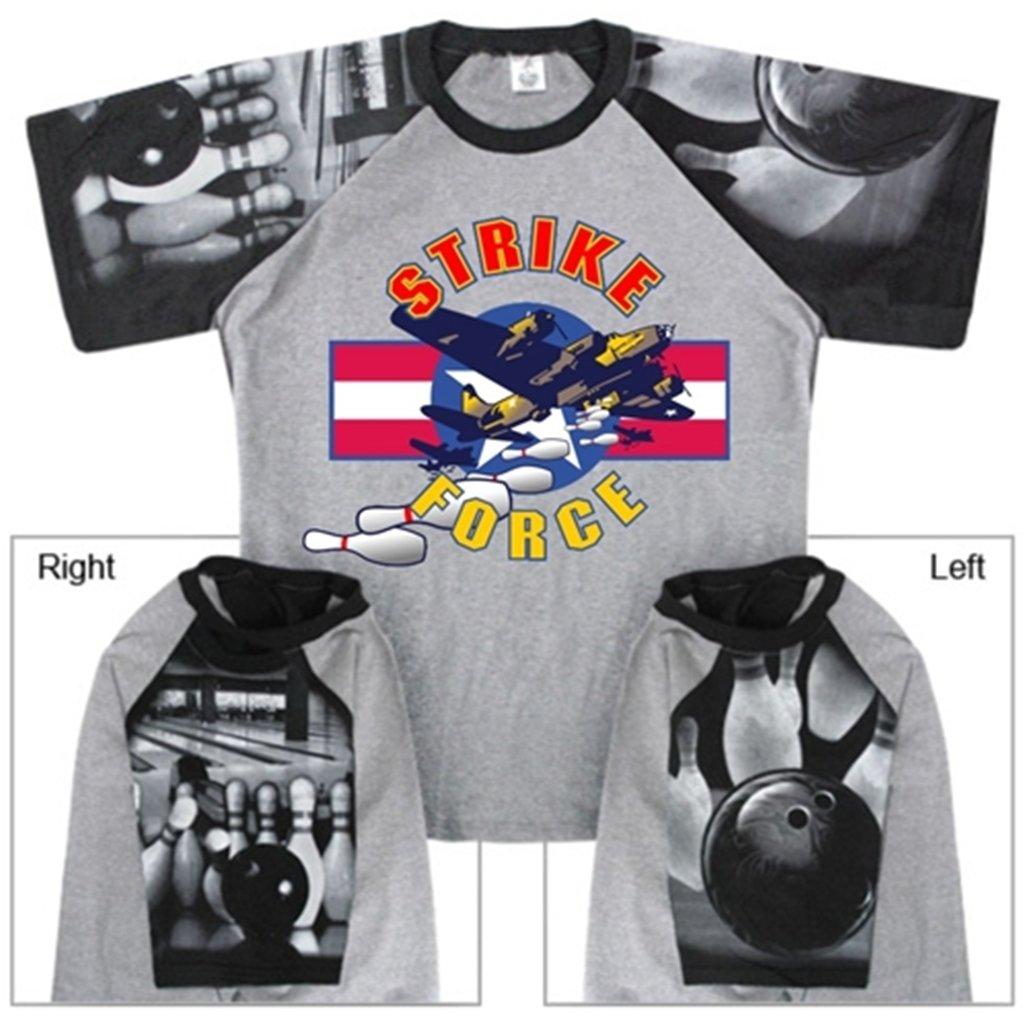 【35%OFF】 Strike Force Tシャツwith Bowlingスリーブデザイン 4L グレー Tシャツwith/ブラック グレー/ブラック 4L B00CD7MMZ4, 達人のギフト屋さん:870abe45 --- eastcoastaudiovisual.com