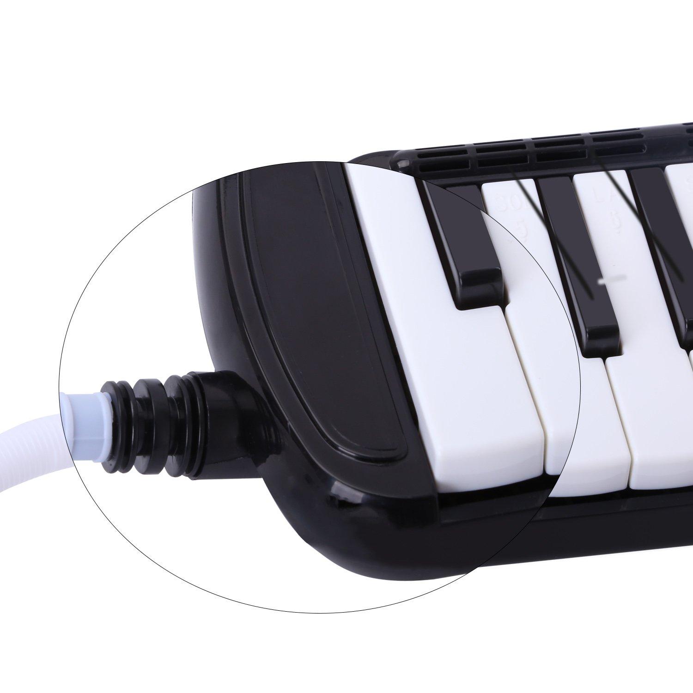 Melódica CAHAYA, Piano de Viento con 37 Teclas, Incluye Tubo de Soplado, Boquilla y Bolsa de Transporte (Negro): Amazon.es: Instrumentos musicales