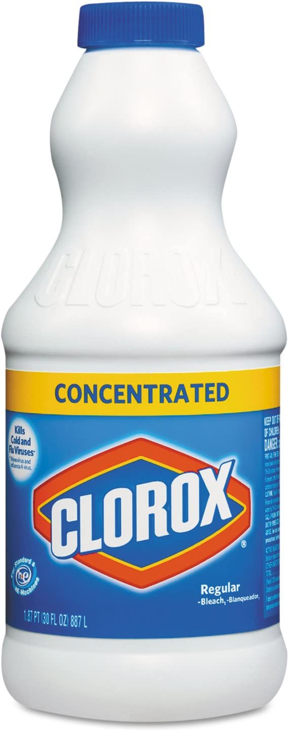 CLO30768 - Concentrated Regular Bleach, 30oz Bottle