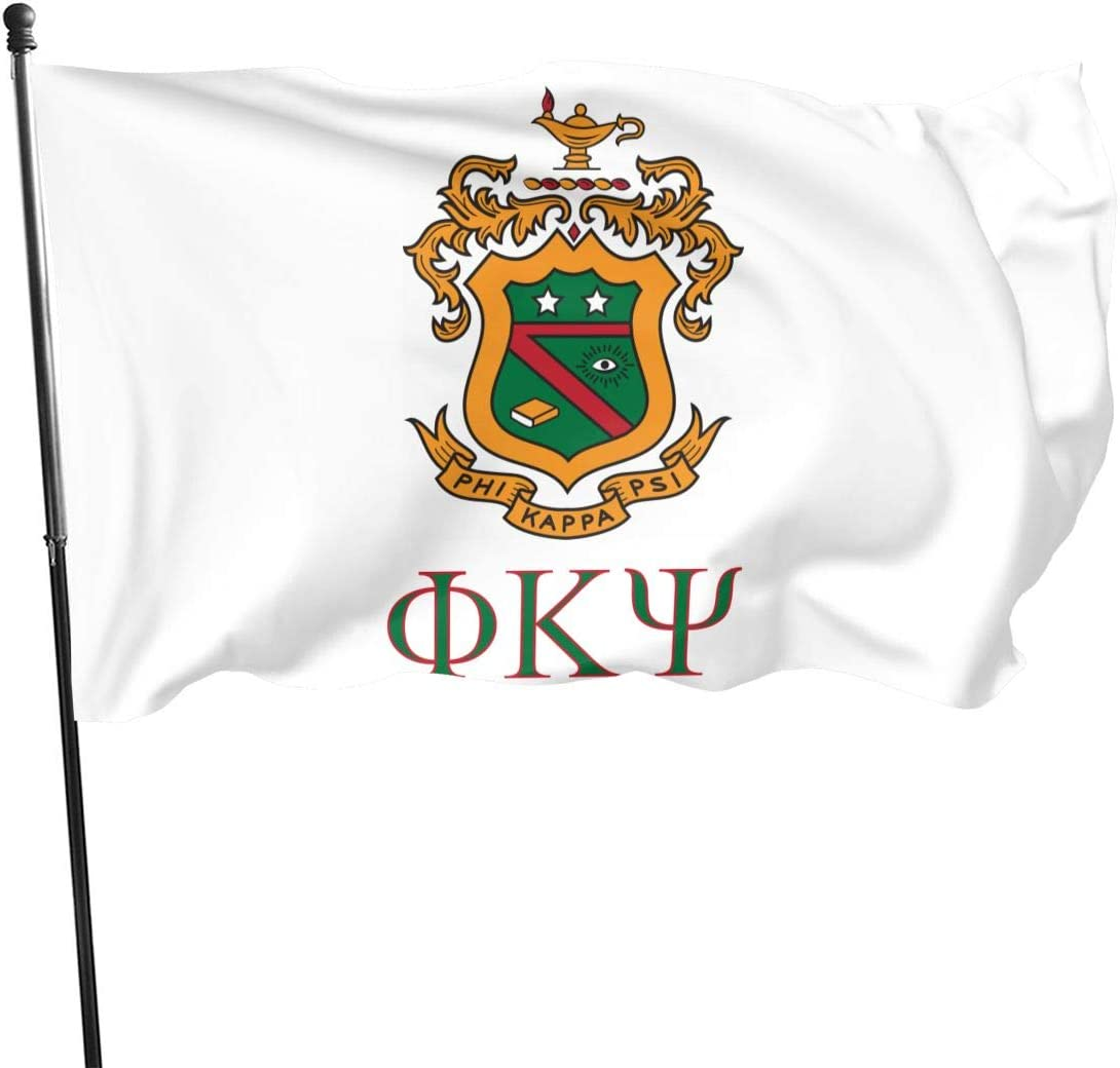 Riiat Phi Kappa Psi Flag 3x5 Ft for Home-Business-Outdoor Flags Garden Decoration Durable Big Banner Flag