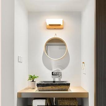 Badewanne Spiegel Lampen - Moderne Massivholz Led-Spiegel Vorne ...