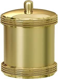 Nu Acero algodón torunda/contenedor, Acero Oro: Amazon.es: Hogar