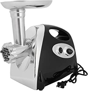 Electric Meat Grinder, 3000W Stainless Steel Mincer, Heavy Duty Food Processor with 3 Grinding Plates,1 Sausage Tubes,2 Blades,Attachment & Brush (Black)