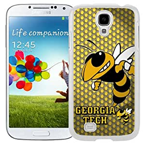 Beautiful Designed With NCAA Atlantic Coast Conference ACC Footballl Georgia Tech Yellow Jackets 2 Protective Cell Phone Hardshell Cover Case For Samsung Galaxy S4 I9500 i337 M919 i545 r970 l720 Phone Case White