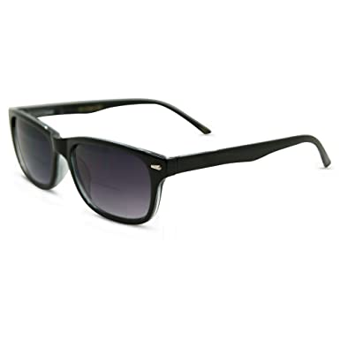 daec3ab09046 In Style Eyes Seymore Retro BiFocal Sunglasses for Women and Men Black 1.00