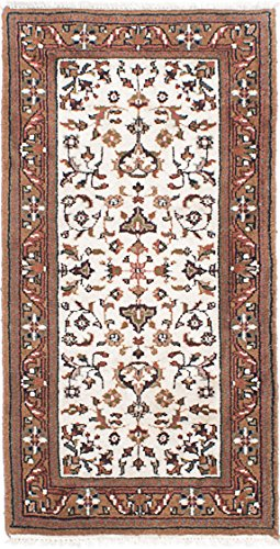 Ecarpetgallery Hand-knotted Royal Kashan Open Field 2' x 4' Ivory 100% WOOL. area rug (Kashan Rug Royal)