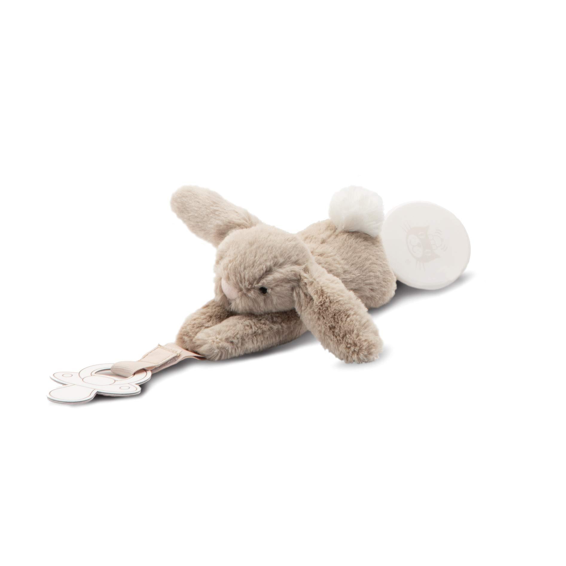 Bashful Beige Bunny Pacifier Clip by Jellycat