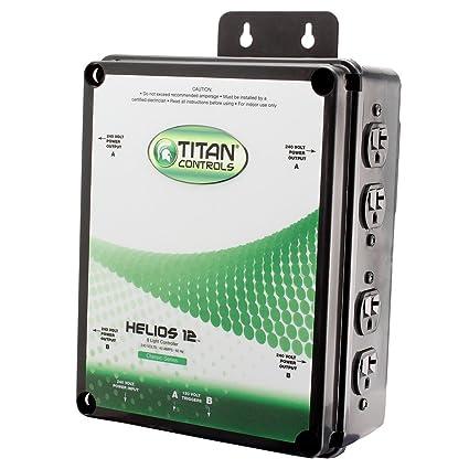 Titan Controls 8-Light Controller w/ Dual Relay Trigger Cords, 240V -  Helios 12