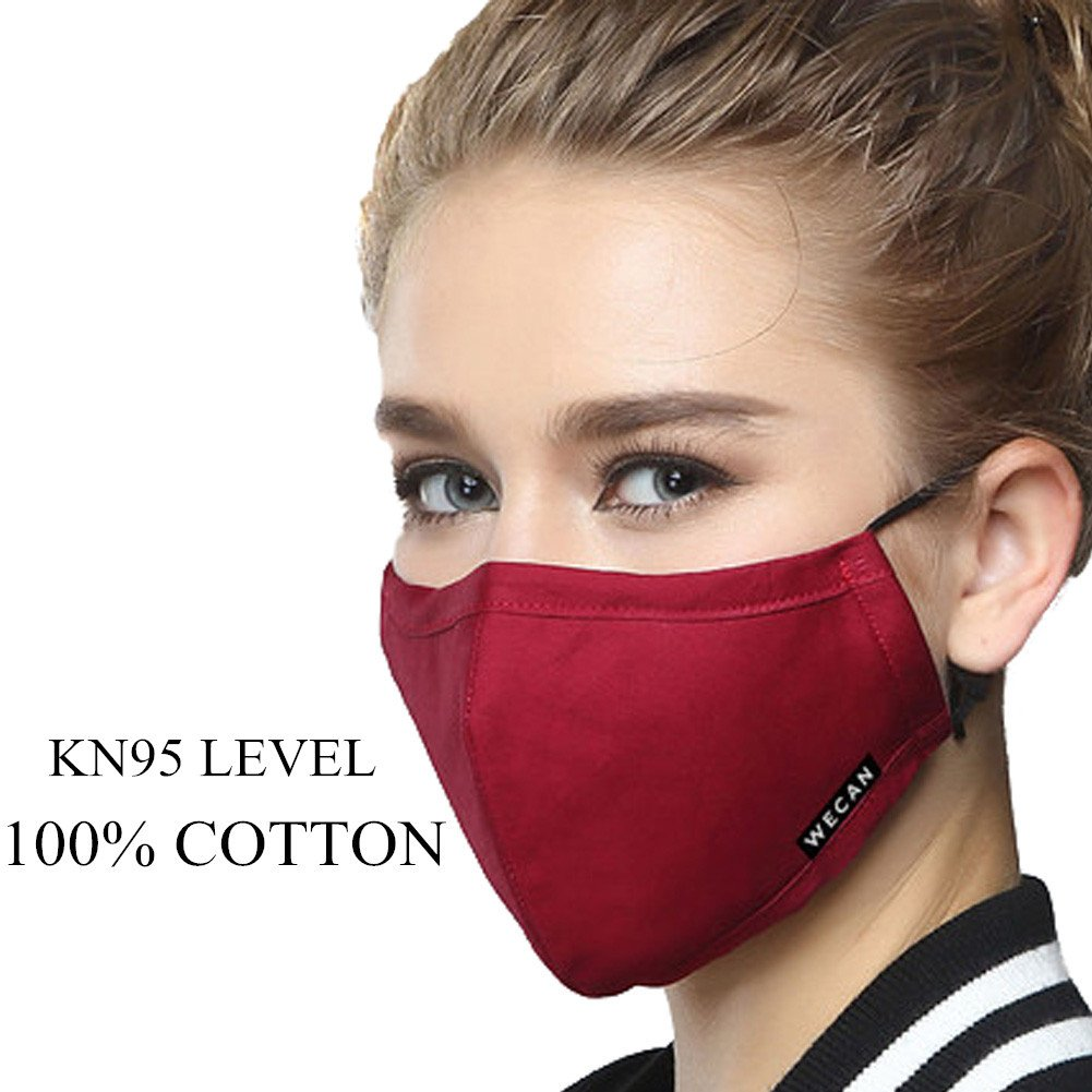 ZWZCYZ Masks Dust Mask Anti Pollution Mask PM2.5 4 Layer Filter Insert Can  Be Washed Reusable Masks Cotton Mouth Mask for Men Women (Medium(Women s) 73037dc2d