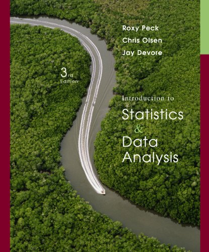 Activities Workbook for Peck/Olsen/Devore's Introduction to Statistics and Data Analysis, 3rd