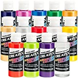 Createx 14 Pearlized/Pearl Airbrush Paint Colors