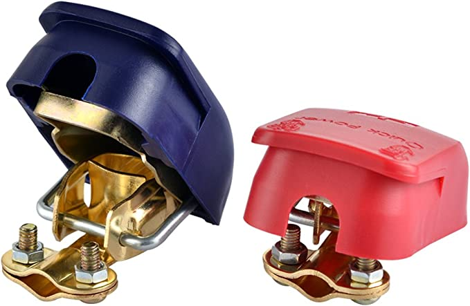 Enrise Schnellverschluss 12v 24v Batterie Polklemmen Batterieklemmen Steckverbinder 1 Paar Auto
