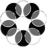 スマートフォンをどこでも貼り付ける ノンスリップマット ジェルパッド IHUIXINHE超強力粘着ゲル滑り止めマット 吸着パッド 車携帯 車スマートフォン 車小物置き 10枚入れ (Circle)