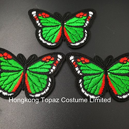 2017 China Popular Hotfix Rhinestone Transfer Design Butterfly Design For Garment (Light green)