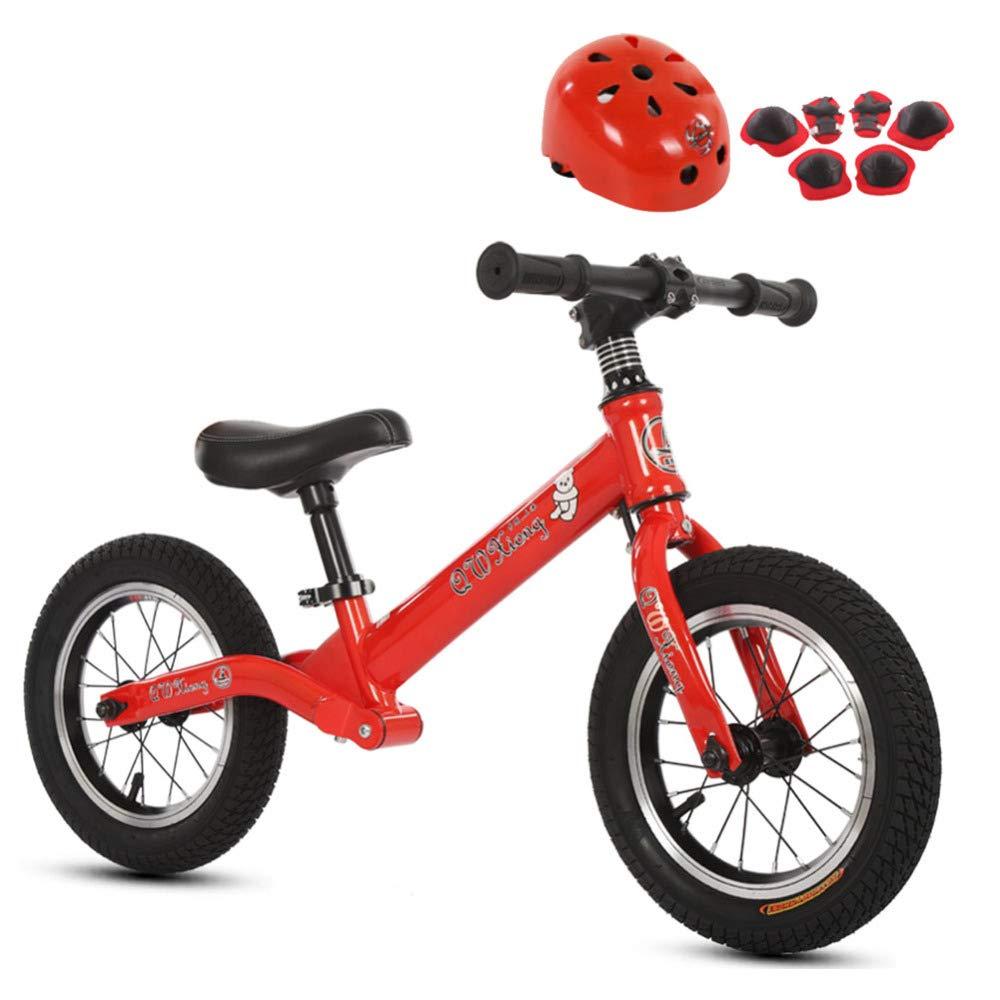 TH Balance Bike Laufrad Sport Kein Pedal Walking Bicycle Mit Carbon-Stahlrahmen, Verstellbarem Lenker Und Seat Mit Helmprotektor, 2-6 Jahre Alt