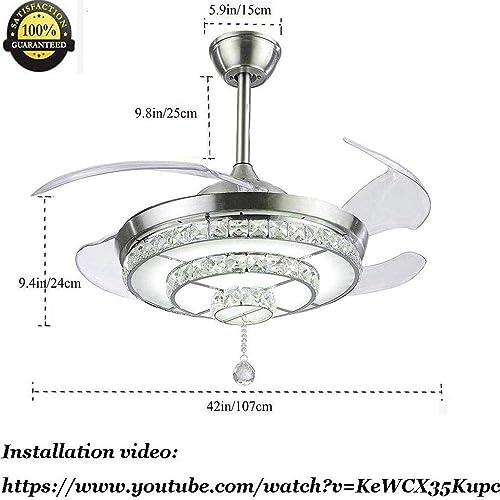 42″ Luxury Crystal Ceiling Fan Light