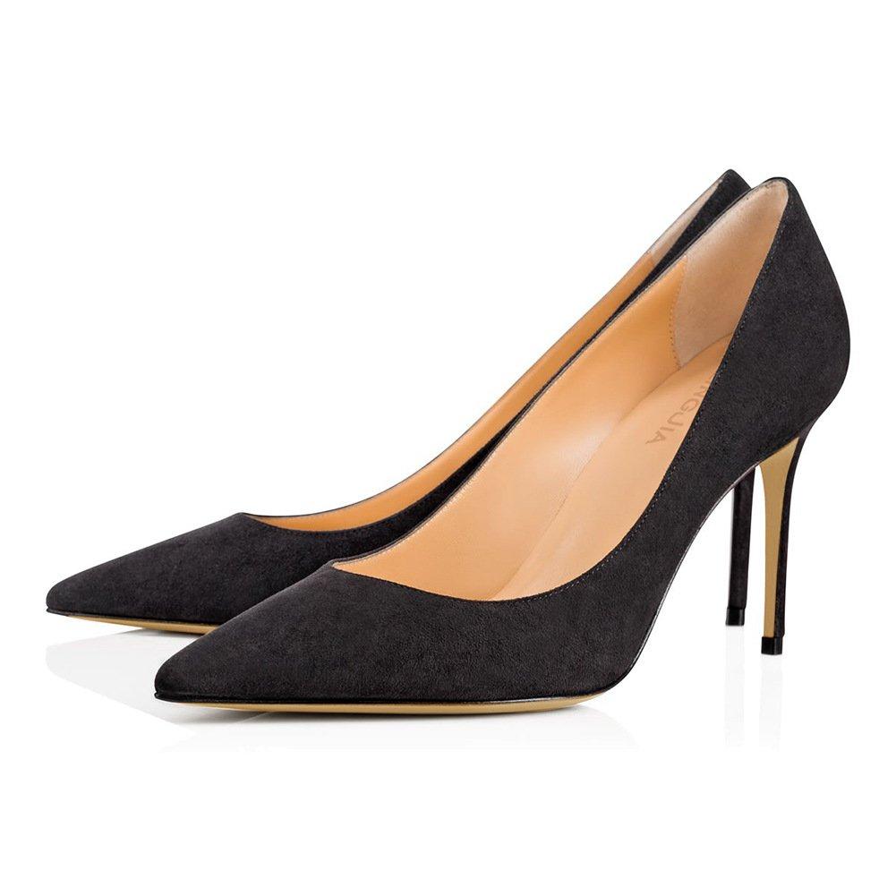 ZHZNVX Tipp schwarzen schwarzen schwarzen Nieten High Heels, weiß apricot Farbe Leder Hochzeit Schuhe B07CSPJRFG Sport- & Outdoorschuhe Bestätigungsfeedback eddc1e