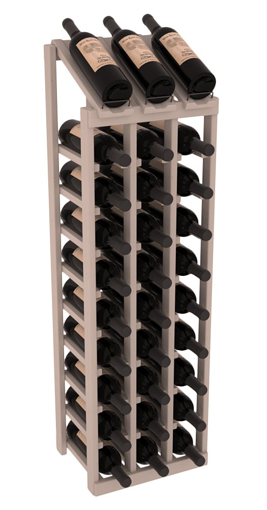 Wine Racks America Ponderosa Pine 3 Column 10 Row Display Top Kit. 13 Stains to Choose From!