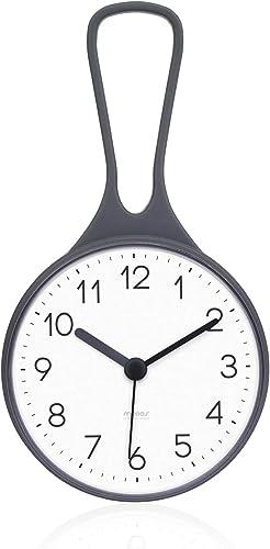 mooas Loop Bathroom Clock, Shower Clock, Waterproof Shower Clock Gray