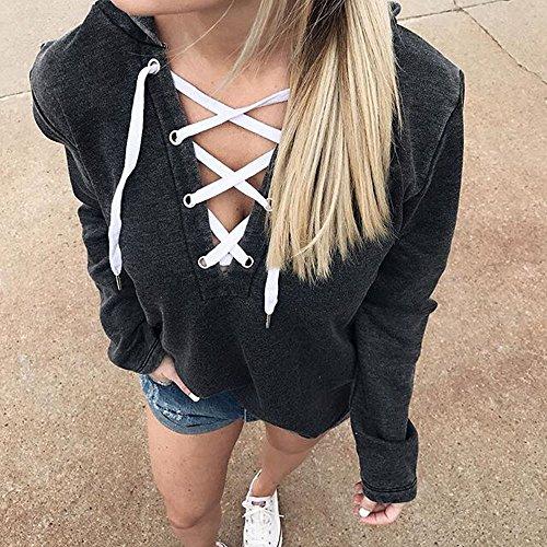 Manches Chemise en Veste Dentelle Sexy Mode Veste Longues LILICAT Black Pull Shirt Culture Sweat Capuche Vtements IvFIwq7gY