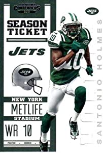 2012 Playoff Contenders Season Ticket #69 Santonio Holmes NY Jets NFL Football Card NM-MT