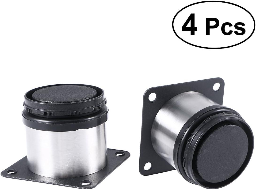 PIXNOR Möbelfüße Schrankfüße Metall verstellbar Edelstahl Küche runden 16-er  Pack
