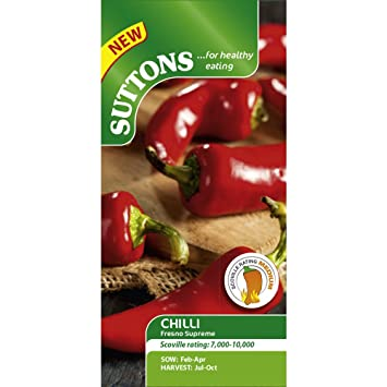 7d27215f Suttons Seeds Capsicum Chilli Pepper Fresno Supreme Seeds: Amazon.co ...