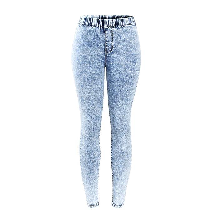 Pantalones Vaqueros Lavados con ácido Ultra elástico ...