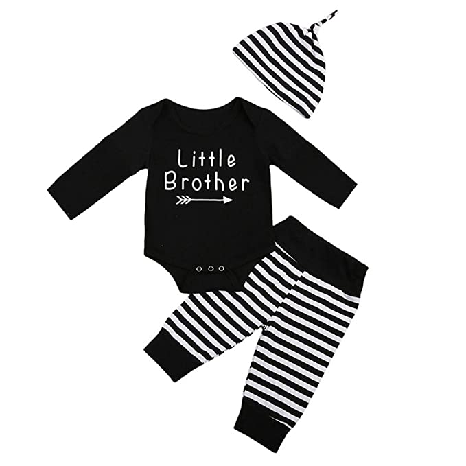 edbeae84f Little Brother Big Sister Toddler Baby Boy Girl Long Sleeve Matching Clothes  Romper T-shirt