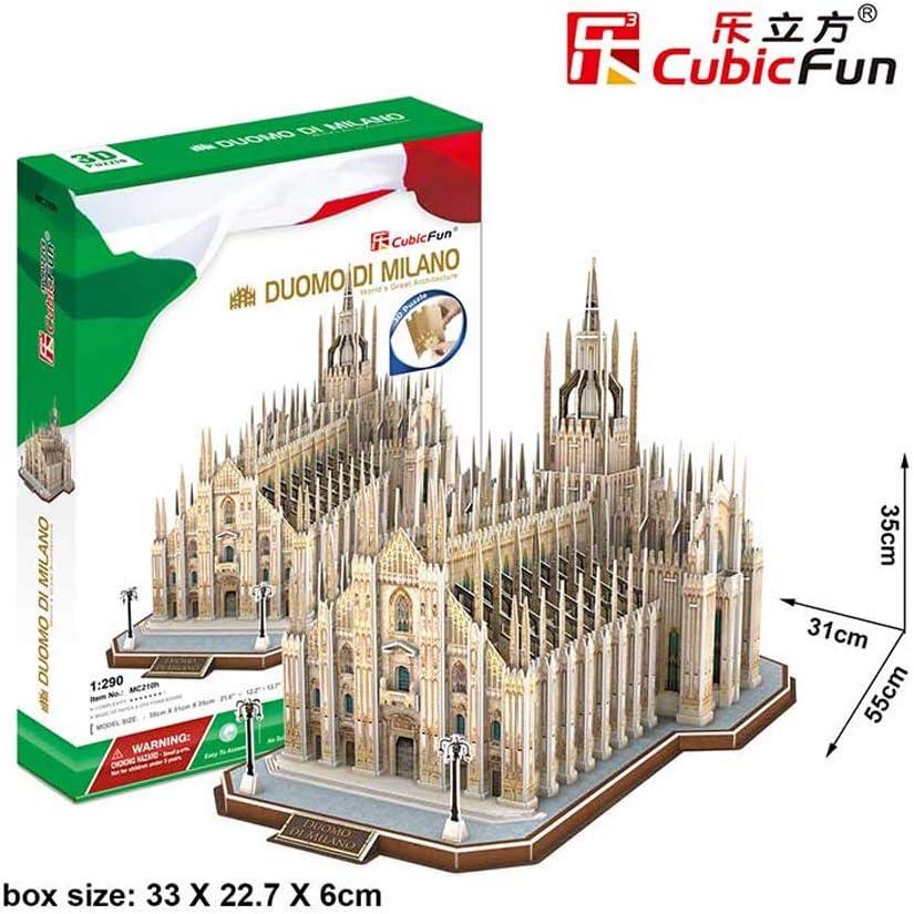 Tachan Puzzle 3D Il Duomo de Milano Cubic Fun 771MC210 Italia