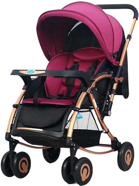 Opinión sobre Cochecito de bebé, Cochecito portátil, cómodo Cochecito de Cuatro Ruedas, Cochecito Urbano de Alta Vista para niños