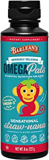 product image for Barlean's Seriously Delicious Omega Pals Flax Oil Sensational Straw-Nana, 8 Ounce
