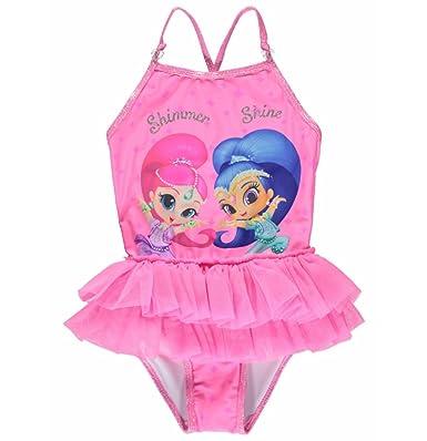 268ec29738 Girls Shimmer & Shine Swimsuit (4-5 Years): Amazon.co.uk: Clothing