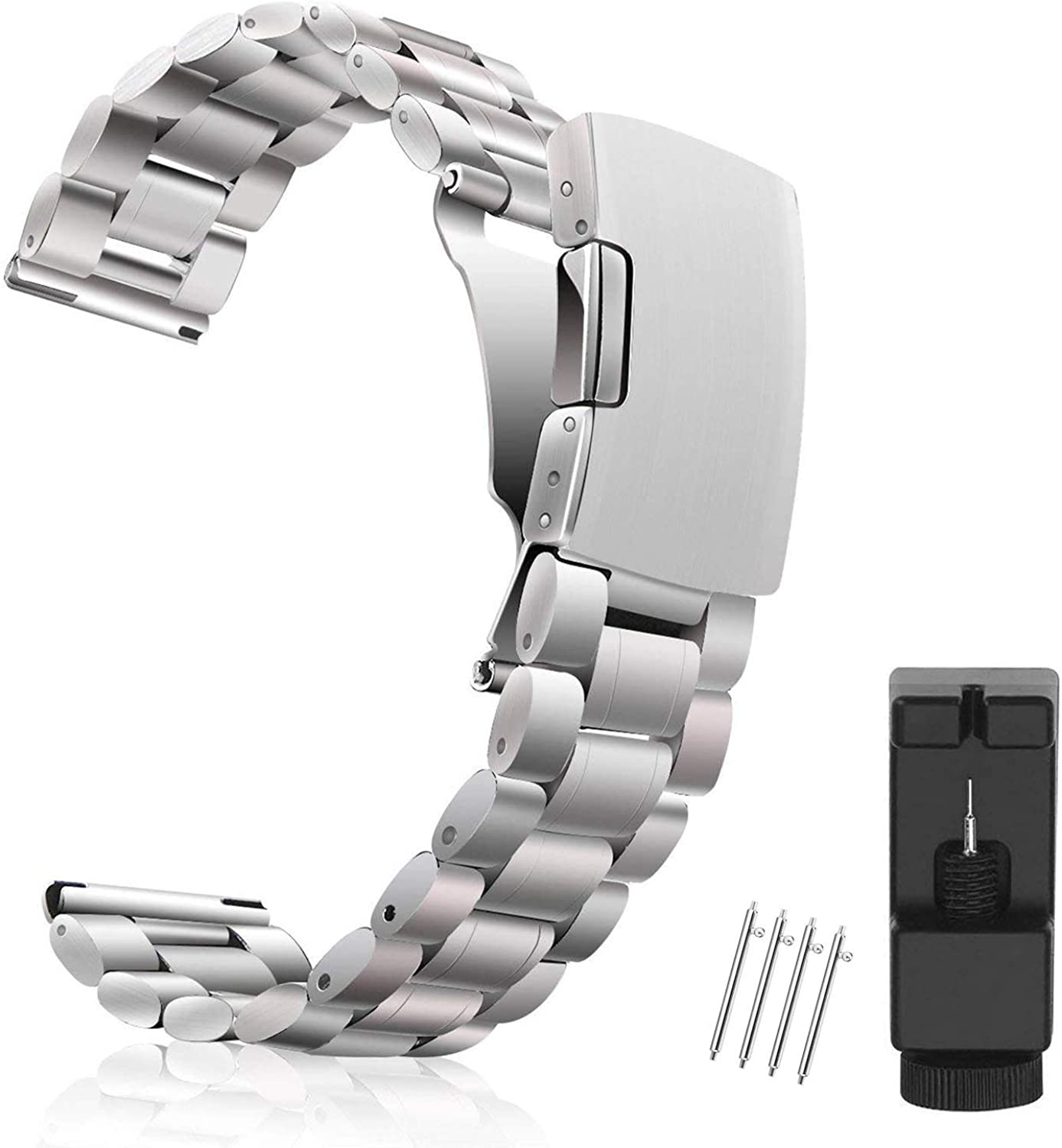 Metal Watch Band 18mm 20mm 22mm, Vetoo 304 Stainless Steel Replacement Watch Strap