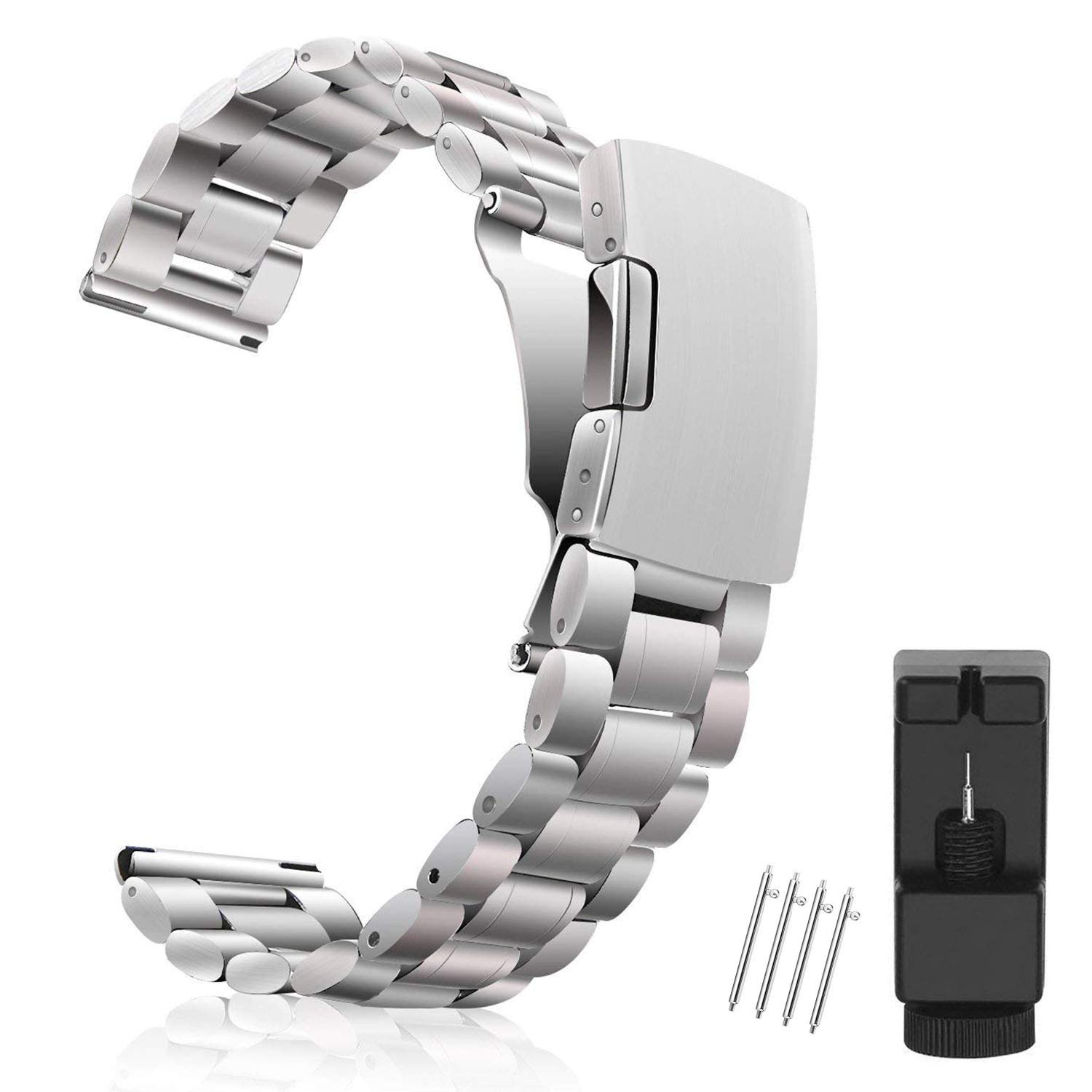 Metal Watch Band 18mm 20mm 22mm Vetoo 304 Stainless Steel Replacement Watch Strap