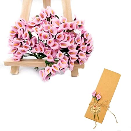 Jzk 144 Foam Pink Calla Lily Small Artificial Flowers For Crafts